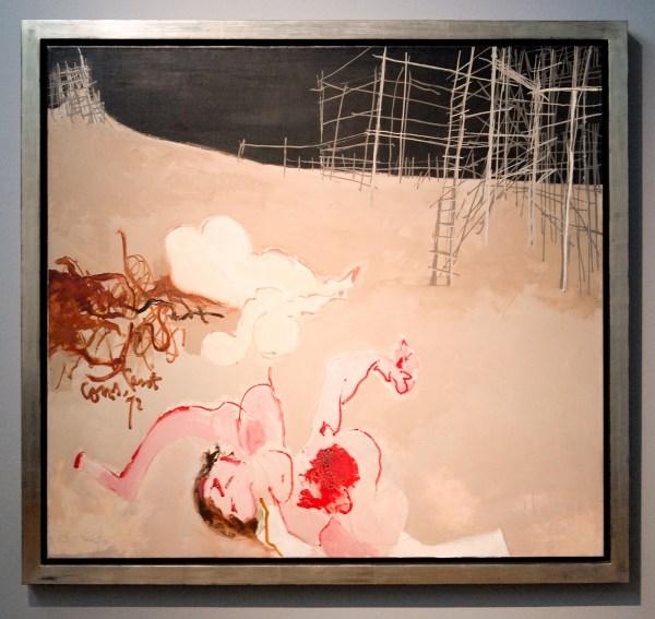 Constant Nieuwenhuijs - Le Massacre de My Lai (Het Bloedbad van My Lai) - Olieverf op doek, 1972