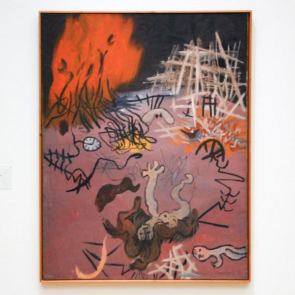 Constant Nieuwenhuijs - Verschroeide Aarde I - Olieverf op doek, 1951