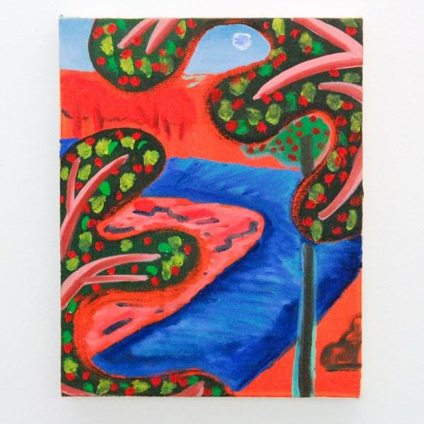 Shara Hughes - Apple Trees - 36x28cm Olieverf en acylverf op canvas