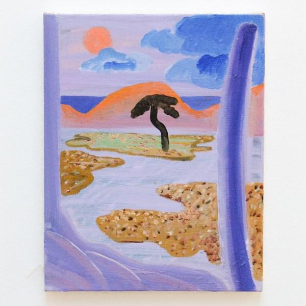 Shara Hughes - Lavender Land - 36x28cm Olieverf en enamel op canvas