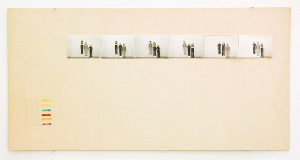 Guy Mees - Untitled - 15x30cm Marker, potlood en zwart wit fotografie op papier, 1970