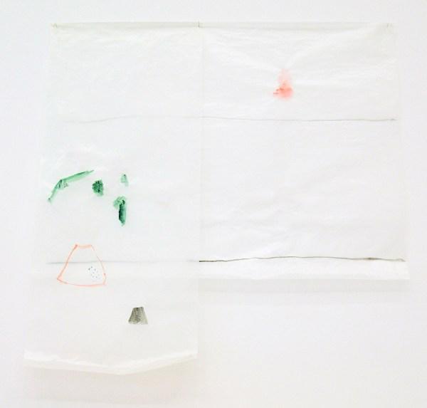 Guy Mees - Untitled (ZA-037) - 80x80cm Waterverf op papier, 1998