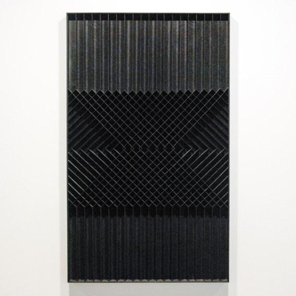 Levi van Veluw - A Grid for Guidance I - 142x86x5cm Walnoot hout en zwarte inkt