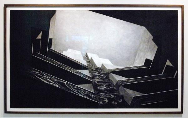 Levi van Veluw - Beyond - 120x205cm Houtskool op papier
