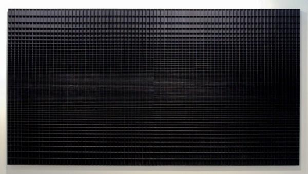Levi van Veluw - Horizon - 185x344cm Walnoot hout en zwarte inkt