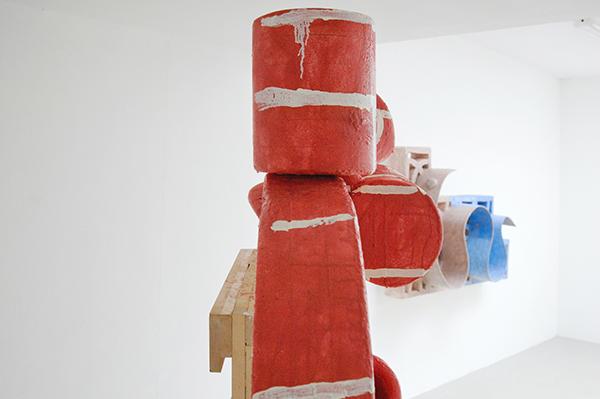 Mike Pratt - Wall - 157x126cm Olieverf en encaustiek op piepschuim (detail)