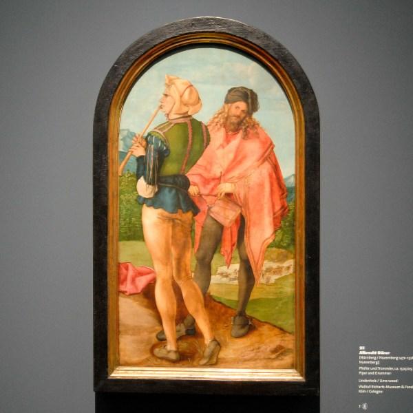 Albrecht Durer - Piper and Drummer - 94x51cm Lindenhout, 1503-1505