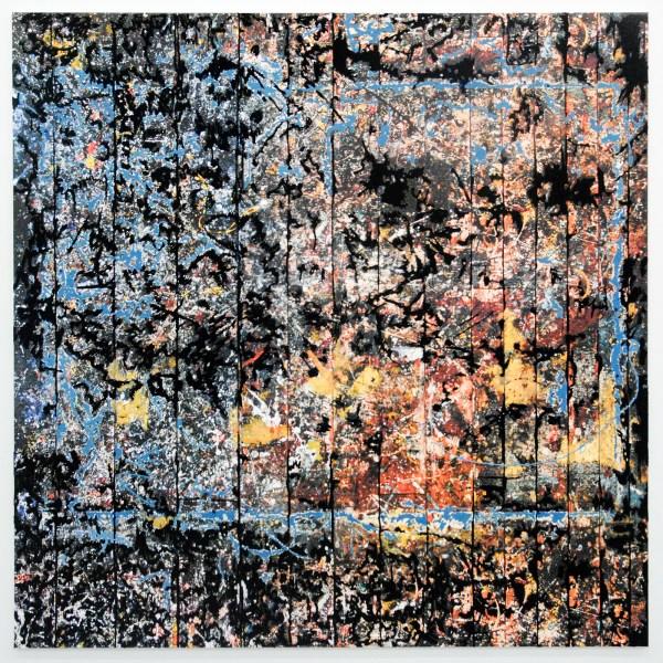 Berend Strik - Decipher the Artist's Mind (Studio JP) - 213x213cm C-print met borduursel