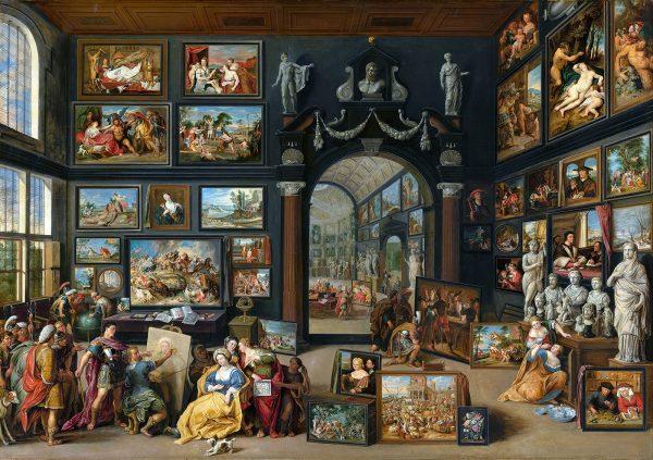 1630 - Willem van Haecht - Apelles Painting Campaspe - Olieverf op doek