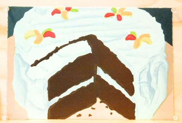 Marcel van Eeden - Cat 2,8 Desserts (nr 6 Cake) - 19x28cm Lithografie, oplage van 36, 2015, €365,-