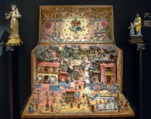 Jaime Eguiguren - Kist met scens en symbolen van de Passie, midden 17e eeuw, Peru