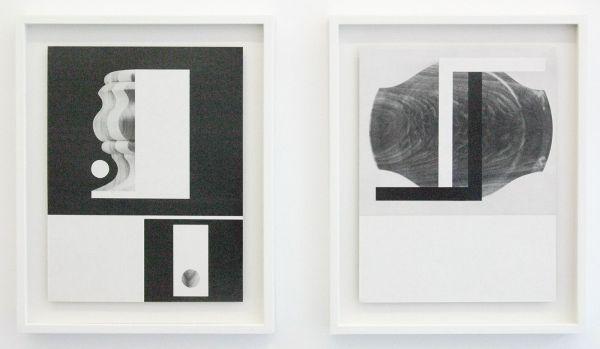 Louis Reith - Untitled (Lood) I & V - 21x28cm Collage van gevonden boekpagina's