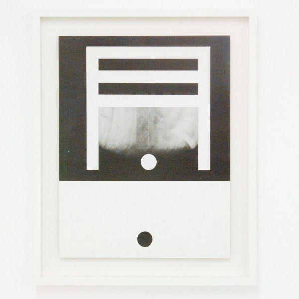 Louis Reith - Untitled (Lood) III - 21x28cm Collage van gevonden boekpagina's