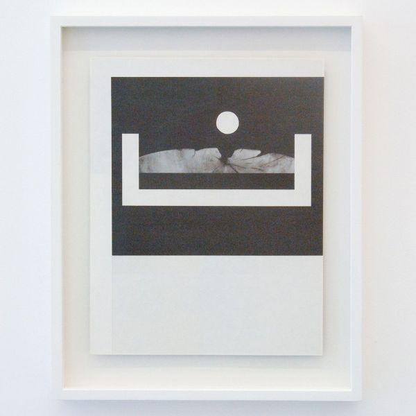 Louis Reith - Untitled (Lood) VII - 21x27cm Collage van gevonden boekpagina's