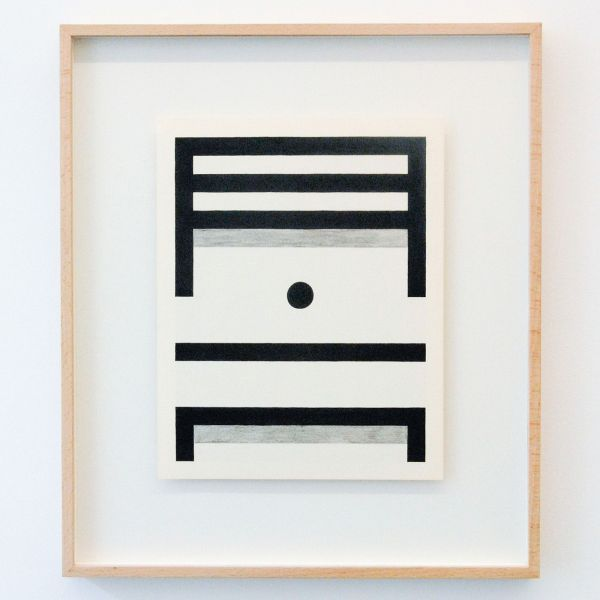 Louis Reith - Untitled (Stof) II - 24x30cm Potlood en inkt op gevonden boekpagina's