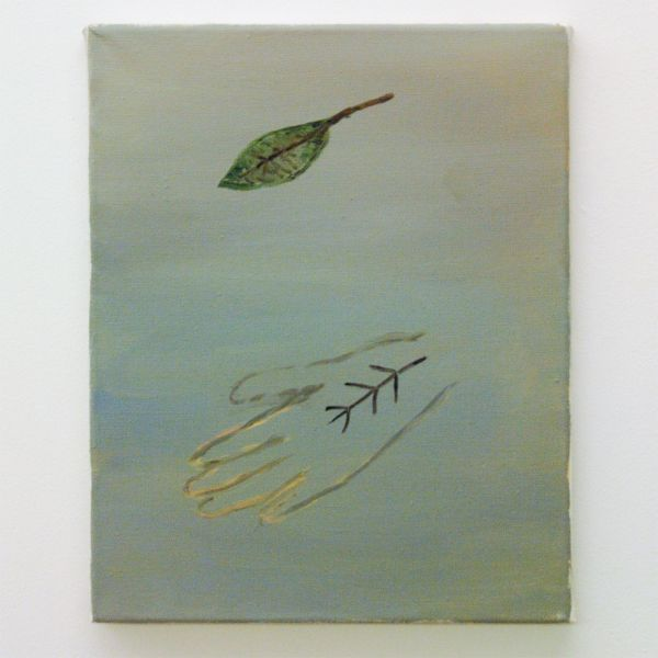 Sanne Rous - A Leaf that Was - 35x28cm Olieverf op canvas