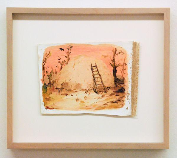 Sanne Rous - Untitled - 30x34cm Olieverf op canvas (ingelijst)