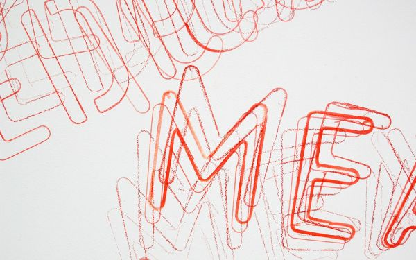 Job Koelewijn - Untitled (Dedication Means Authority) - 200x200cm Potlood, marker en sjabloon (detail)