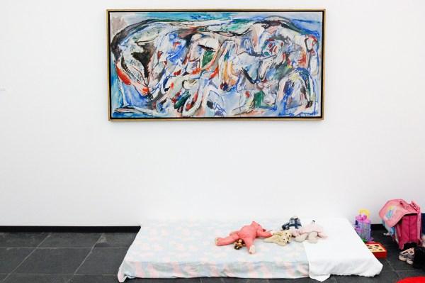 Pierre Alechinsky - Nuages en Pantalans - Olieverf op canvas, 1957