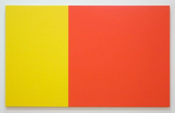 Steven Aalders - Phi Painting (Red Yellow) - 100x162cm Olieverf op linnen