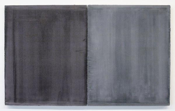 Willy de Sauter - Zonder Titel - 2 maal 55x45 cm Pigment en krijt op paneel