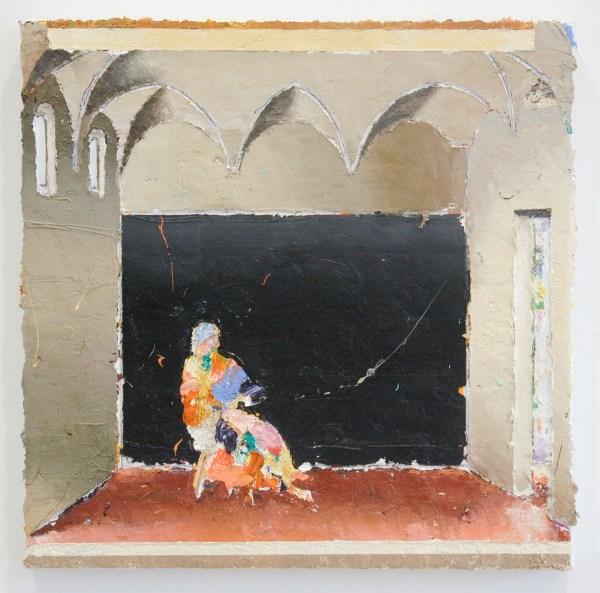 Matthias Weischer - Refractorium 1 - 49x49cm Olieverf op canvas