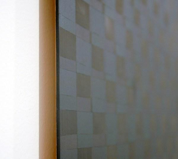 Marielle Buitendijk - Zonder Titel - 100x100cm Pigment, acrylverf en snedes op eiken hout (detail)
