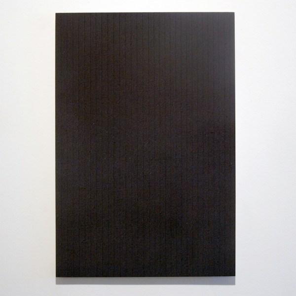 Marielle Buitendijk - Zonder Titel - 35x22cm Pigment, acrylverf en snedes op eiken hout