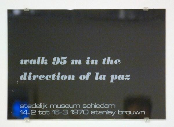 documentatie stanley brouwn - poster