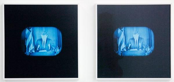 Germaine Kruip - Kennedy - 45x45cm, Twee lambda prints op 2mm dibond, ingelijst
