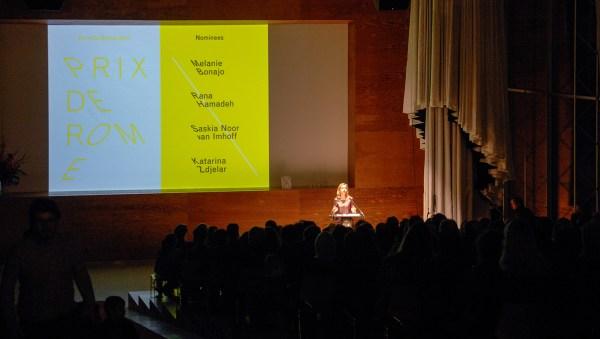 Prix de Rome opening door Birgit Donker