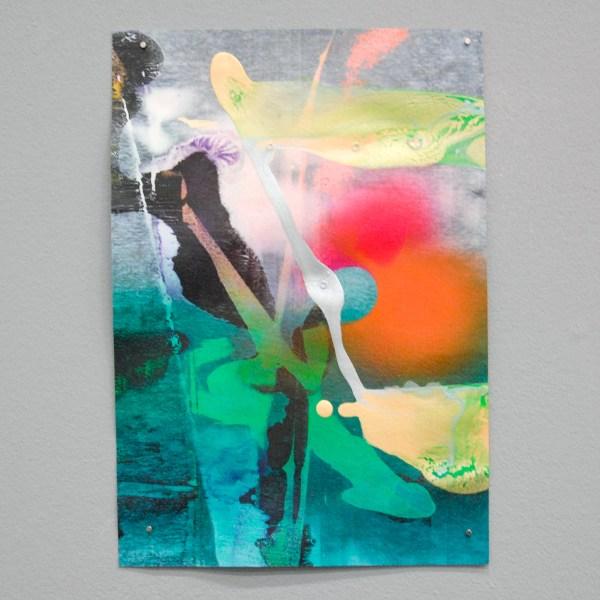 Bernard Gilbert - Number 275 - 30x21cm Olieverf en acrylverf op papier