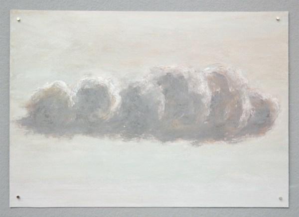 Dick van Berkum - Cloud Study - 21x30cm Olieverf op papier