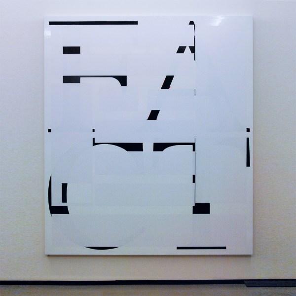 Ronald de Bloeme - Fact I (Times) - 230x200cm Mat- en hoogglanslak op katoen