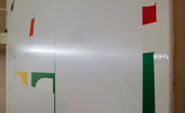Ronald de Bloeme - Fact II (Google) - 230x200cm Mat- en hoogglanslak op katoen (detail)