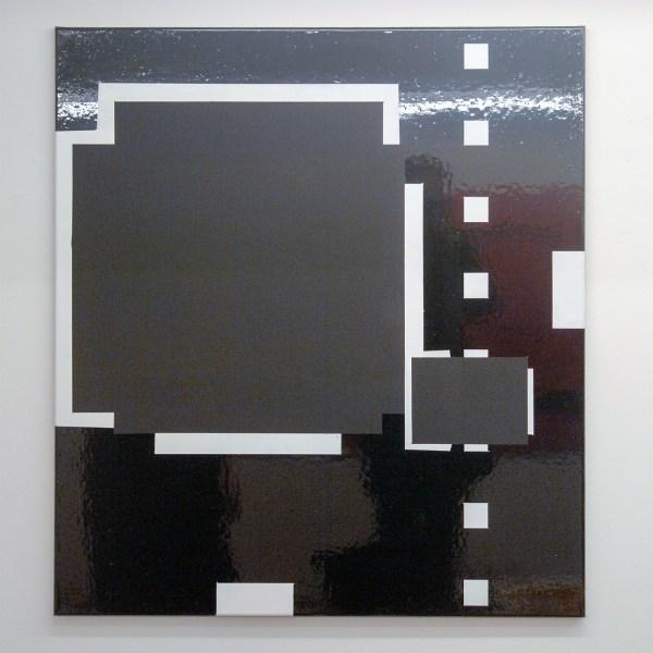 Ronald de Bloeme - Komposition II - 100x90cm Mat- en hoogglanslak op linnen