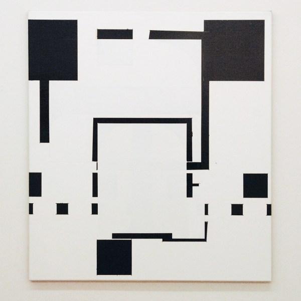 Ronald de Bloeme - Komposition II (T-Mobile) - 100x90cm Mat- en hoogglanslak op linnen