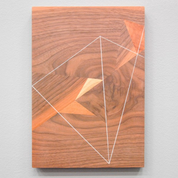 Wim Wauman - Improvisation (Ontplooiing) - 30x21x2cm Wit potlood op houtveneer gelijmd op Bruynzeel Okoume Hechthout