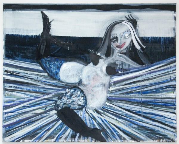 Gerben Mulder - Wonam Striking a Pose - 152x190cm Olieverf op canvas