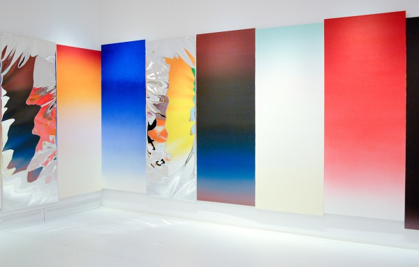 James Rosenquist - Horizon Home Sweet Home, Slush Thrust - Arrangement, Olieverf op doek en aluminium en rookmachine