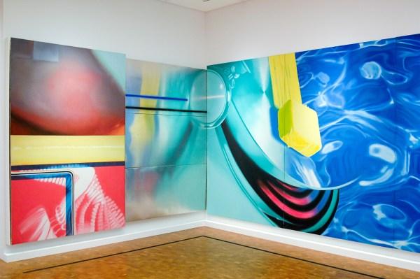 James Rosenquist - Horse Blinders - Olieverf op canvas en aluminium