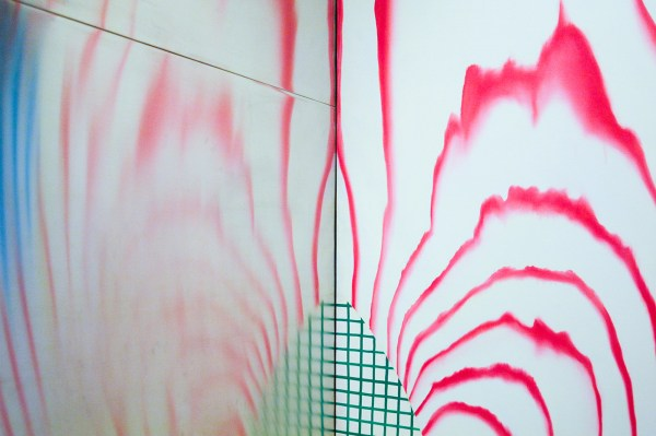 James Rosenquist - Horse Blinders - Olieverf op canvas en aluminium (detail)