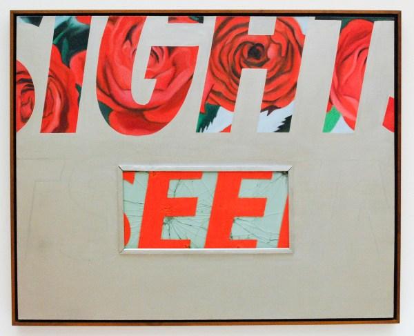 James Rosenquist - Sightseeing - Olieverf op canvas en glas met beschilderd hout en hardware