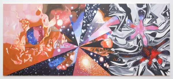 James Rosenquist - The Geometry of Fire - Olieverf op canvas