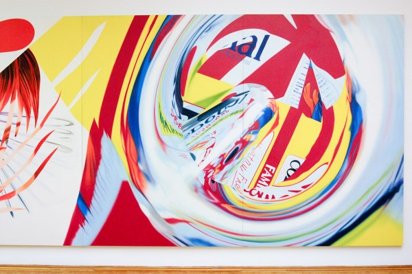 James Rosenquist - The Swimmer in the Econo-mist 1 - Olieverf op shaped canvas (detail)