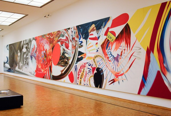 James Rosenquist - The Swimmer in the Econo-mist 1 - Olieverf op shaped canvas
