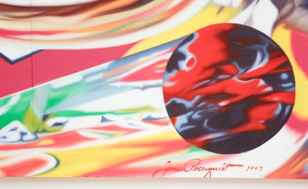 James Rosenquist - The Swimmer in the Econo-mist 2 - Olieverf op shaped canvas (detail)