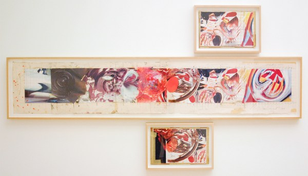 James Rosenquist - The Swimmer in the Econo-mist 3 - Kleurenkopie en mixed media op karton