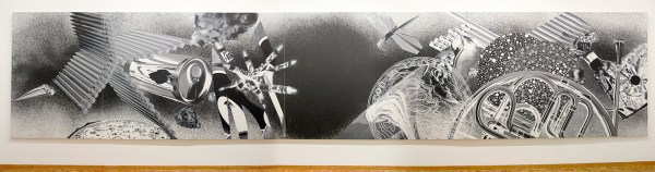 James Rosenquist - Time Dust, Black Hole - Olieverf en acrylverf op canvas