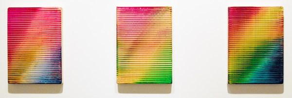 Rob Bouwman - Untitled (p062017) & (p072017) & (p082017) - Ieder 35x23cm Olieverf en alkydverf op paneel